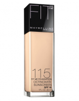 Maybelline New York Fit Me! Foundation, Ivory [115], SPF 18, 1 oz [041554238655]