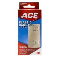 ACE Elastic Bandage (hook closure) 4 Inches 1 Each [051131208148]