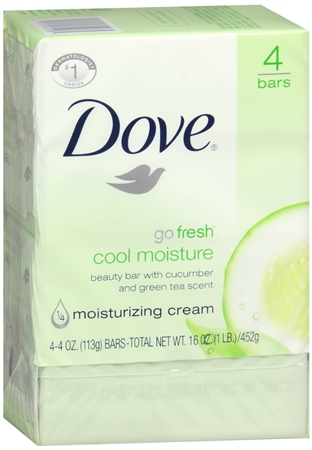 Dove Go Fresh Cool Moisture Beauty Bars 17 oz [011111611085]