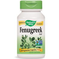 Nature's Way Fenugreek Seed Vegetarian Capsules, 610 mg 100 ea [033674128008]