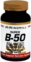 Windmill Super B-50 Balanced Complex Tablets 100 Tablets [035046001384]