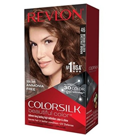 Revlon Colorsilk Beautiful Color, Medium Golden Chestnut Brown [46] 1 ea [309978695462]