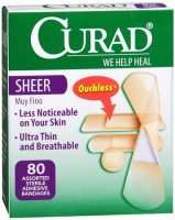 Curad Sheer Bandages Assorted Sizes 80 Each [080196302935]