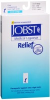 JOBST Medical LegWear Relief Knee High Socks 20-30 mmHg Large Beige 1 Pair [035664146221]