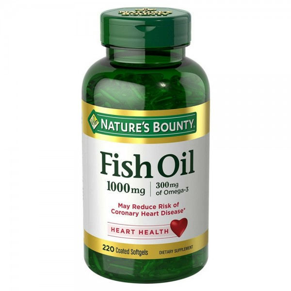 Nature 39 s bounty omega 3 fish oil 1000 mg softgels for Top fish oil brands