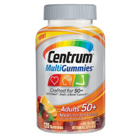 Centrum MultiGummies Adults 50+ Gummies, Cherry, Berry & Orange, 120 ea [300054864604]