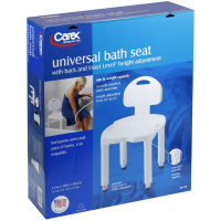 Carex Universal Bath Seat With Back 1 ea [086876159554]