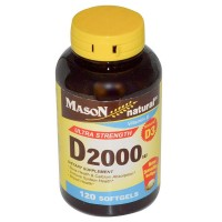 Mason Natural Vitamin D3 2000 IU Ultra Strength Softgels 120 ea [311845150127]