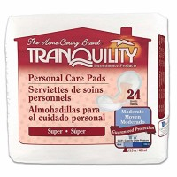 Tranquility Incontinence Personal Care Pads for Men or Women  Super - 24 ea [070319023809]