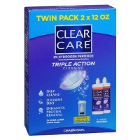 Clear Care Cleaning and Disinfecting Solution Value Pack 24 oz [047113609027]
