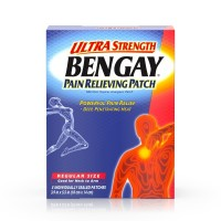 BENGAY Pain Relieving Patches Ultra Strength Regular Size 5 Each [074300081502]