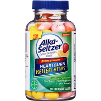 Alka-Seltzer Extra Strength Heartburn Relief Chews, Assorted Fruit 90 ea [016500560548]