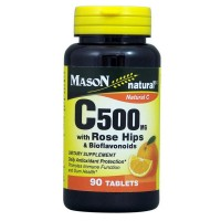Mason Natural C 500 mg with Rose Hips & Bioflavonoids Tablets 90 ea [311845117298]