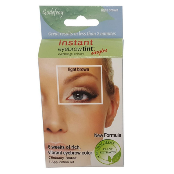 Godefroy Instant Eyebrow Tint Permanent Eyebrow Color Kit Light
