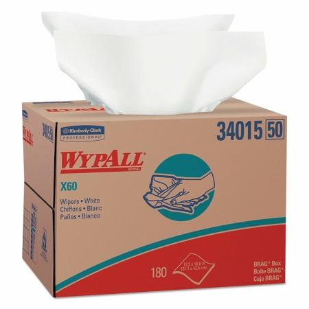 WypAll Cloths, BRAG Box, White, 12 1/2 x 16 7/8 180 ea [036000340150]