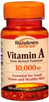 Sundown Vitamin A 10,000 IU Softgels 100 Soft Gels [030768039783]