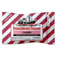 Fisherman's Friend Sugar Free Cherry Menthol Drops Cough Suppressant Lozenges 20 ea [853236005109]