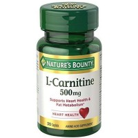 Nature's Bounty L-Carnitine 500 mg 30 Caplets [074312016837]