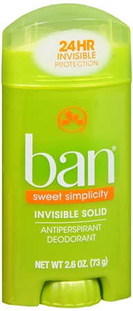 Ban Anti-Perspirant Deodorant Invisible Solid Sweet Surrender 2.60 oz [019045010318]