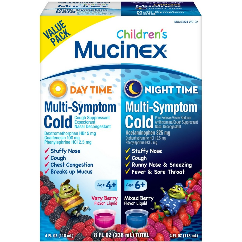 Mucinex Children's Multi-Symptom Day & Night Cold Relief