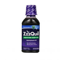 ZzzQuil Nighttime Sleep-Aid Liquid, Warming Berry Flavor 12 oz [323900013988]