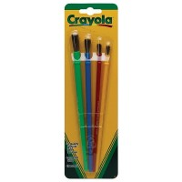 Crayola Paint Assorted Brushes 4 ea [071662635152]