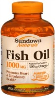 Sundown Fish Oil 1000 mg Softgels Cholesterol Free 200 Soft Gels [030768033040]
