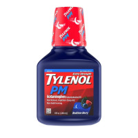 Tylenol PM Extra Strength Pain Reliever & Sleep Aid Liquid, Acetaminophen, Bedtime Berry, 8 oz  [300450421081]