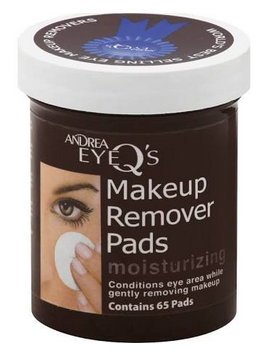 Andrea Eye Q's Eye Make-Up Remover Pads Moisturizing 65 Each [078462066025]