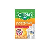 Curad Soothe Plus Medium Rolled Gauze,  5 ea [888277417413]
