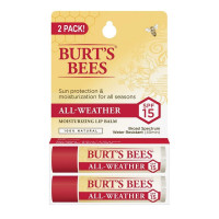 Burt's Bees Lip Balm All-Weather SPF 15,  0.15 oz, Twin Pack [792850902695]