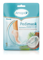 Amope Pedimask Foot Sock Mask, Coconut Oil Essence, Blend Of Moisturizers To Rejuvenate & Soothe Your Feet  3 ea [051400963266]