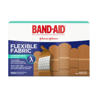 BAND-AID Flexible Fabric Adhesive Bandages Assorted 100 ea [381371150786]