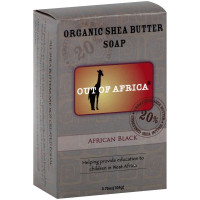 Out Of Africa Pure Shea Butter African Black Soap 4 oz [856044001608]