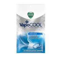 Vicks VapoCool Medicated Drops Cool Blue,  20 ea [323900039698]