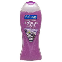 Softsoap Body Scrub Blackberry Sugar Exfoliating Body Wash 15 oz [074182282677]