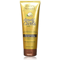 Every Strand  Curling Creme Simply Curls Coconut Oil & Shea Butter 8 oz [815426004095]