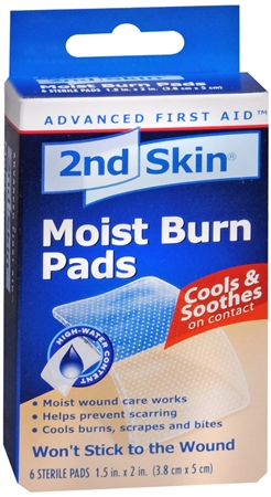 2nd Skin Moist Burn Pads 1.5 Inches X 2 Inches 6 Each [038472505013]