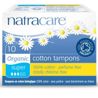 Natracare Organic Cotton Tampons, Super 10 ea [782126191038]