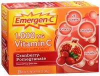 Emergen-C Vitamin C Drink Mix Packets Cranberry Pomegranate 30 Each [076314301935]