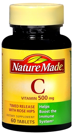 Nature Made Vitamin C 500 mg Tablets 60 Tablets [031604016456]