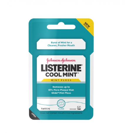 Listerine Dental Floss, Cool Mint 55 yds [012547440362]