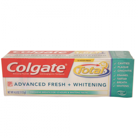 Colgate Total Advanced Fresh + Whitening Toothpaste Gel 4 oz [035000762214]