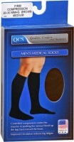 QCS Men's Medical Legwear Firm Brown Medium 1 Pair [763189587860]