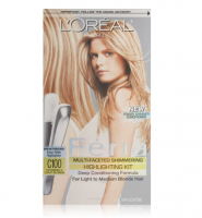 L'Oreal Paris Feria Multi-Faceted Shimmering Highlighting Kit, Extremely Light Blonde [C100] 1 ea [071249031643]