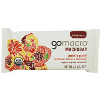 GoMacro Organic MacroBar, 2.3 oz Bars, Protein Purity Sunflower Butter & Chocolate 12 ea [181945000178]