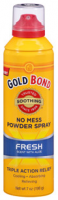 Gold Bond No Mess Powder Spray, Fresh Scent with Aloe 7 oz [041167013106]