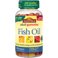 Nature Made Adult Gummies Fish Oil Gummies, Assorted Flavors 150 ea [031604029197]