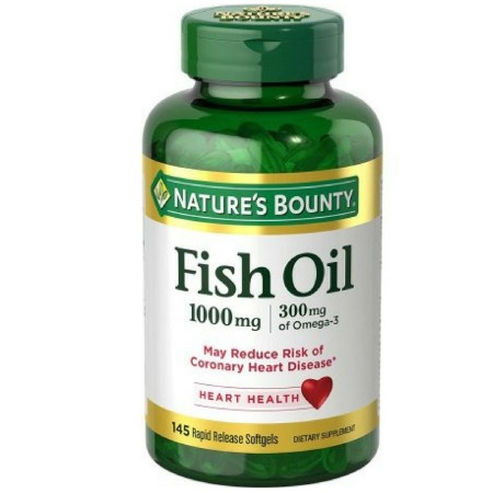 Nature's Bounty Fish Oil Omega-3 1000 mg Softgels 145 ea [074312038228]