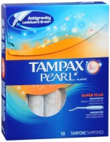 Tampax Pearl Tampons Super Plus Unscented 18 Each [073010479050]